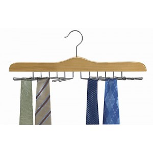 Never Slip Multi Tie Wooden Hanger