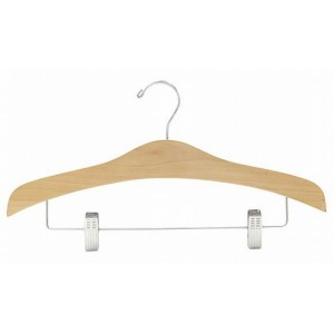 "16"" Space Saver Curves Outfit Hanger w/ Clips"