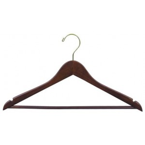 Space Saver Smart Walnut Suit Hanger