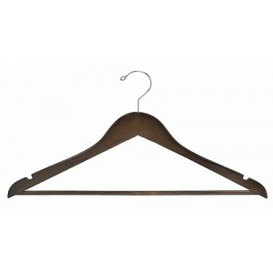 Space Saver Walnut/Chrome Smart Suit Hanger