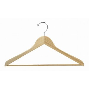 Earth Friendly Bamboo Space Saver Smart Suit Hanger