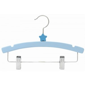 "12"" Decorator's Choice Blue Star Outfit Display Wooden Children's Hanger"