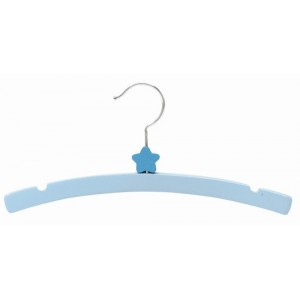 "12"" Decorator's Choice Blue Star Shirt/Coat Wooden Children's Hanger"