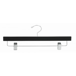 "14"" Secure Black/Chrome Pant & Skirt Hanger"