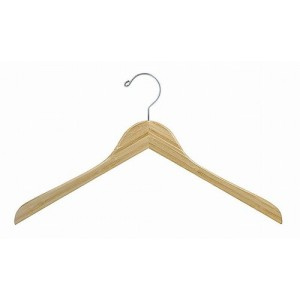 Earth Friendly Bamboo Space Saver Smart Hanger