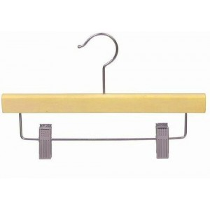 "11"" Natural Wooden Children's Pant/Skirt Hanger"