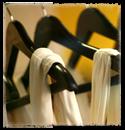 dark wooden hangers